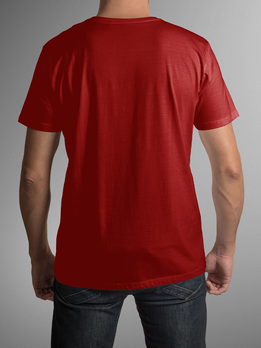 T-Shirt Gaming Marathon, Bumbac, Rosu